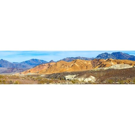 Mountain Range Borax Mine Death Valley Death Valley National Park California Usa Poster Print