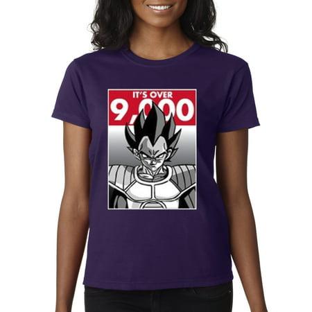 New Way 350 - Women's T-Shirt It's Over 9000 Vegeta Goku Power Level Dragon Ball (Goku And Vegeta Best Friends Shirt)