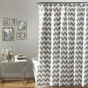 Chevron Shower Curtain, Gray/White