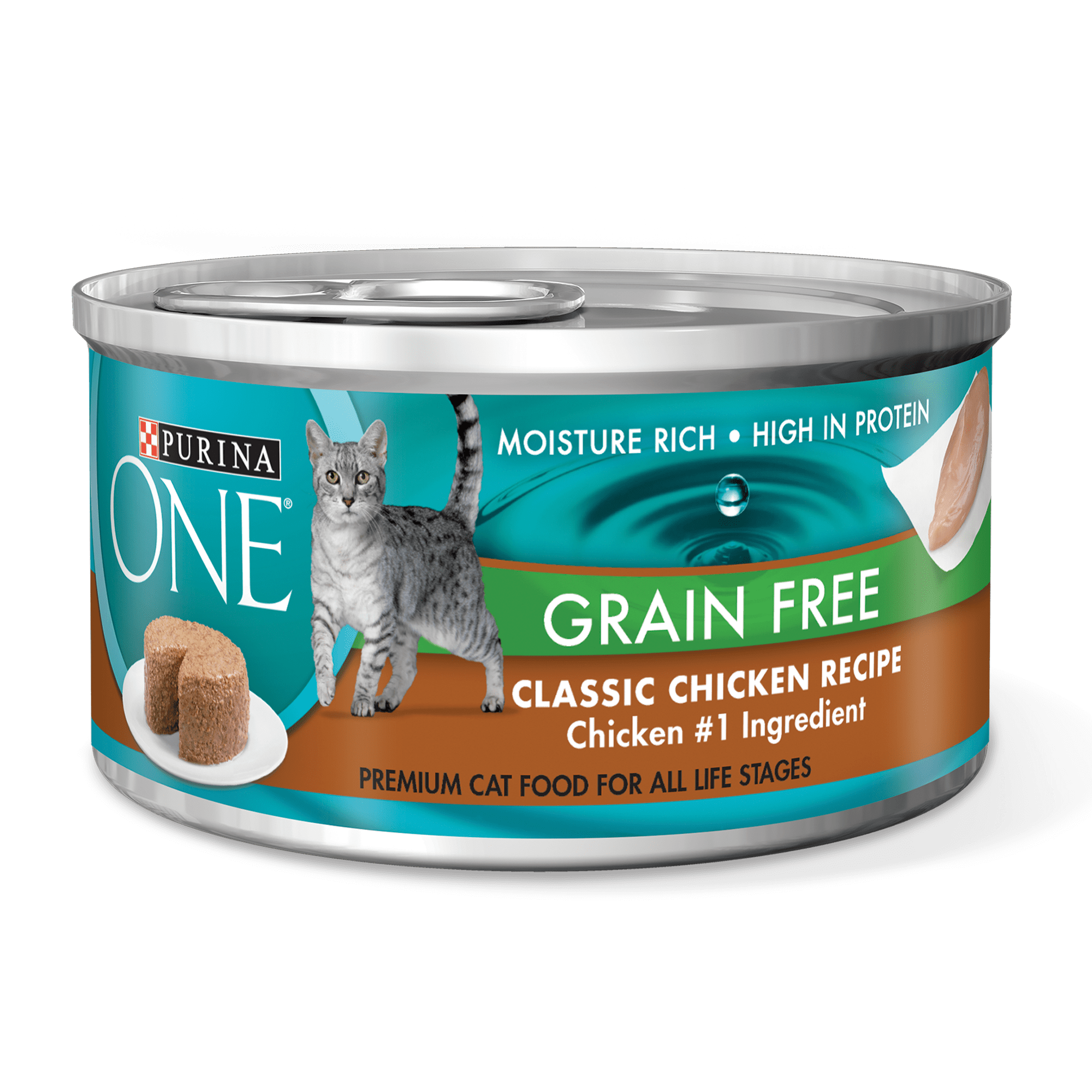 Purina one grain free classic pate chicken recipe wet cat food 3 purina one grain free classic pate chicken recipe wet cat food 3 oz pull top can walmart forumfinder Images
