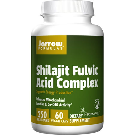Complex 250 Caps - Jarrow Formulas Shilajit Fulvic Acid Complex 250 Mg, Supports Energy Production, 60 Veggie Caps