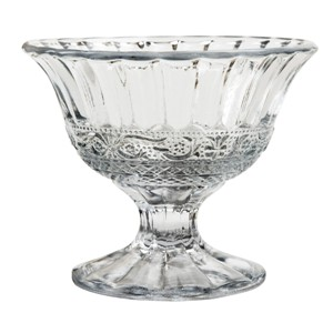 Renaissance Glass Footed Ice Cream Dessert Sorbet Bowls Dishes Cups, Set of 6
