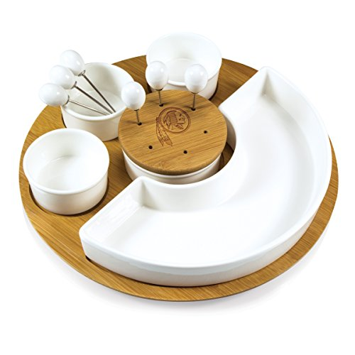 Washington Redskins - Symphony Appetizer Serving Set by Picnic Time (Bamboo) - image 1 de 1