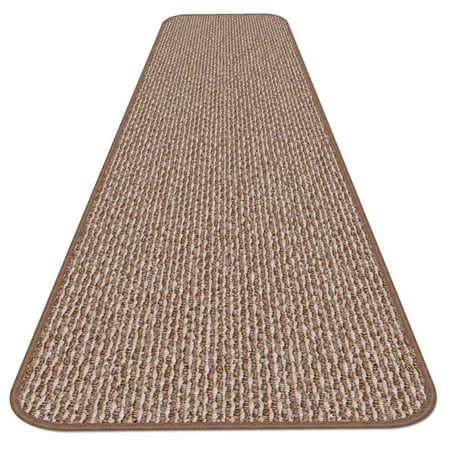 Skid Resistant Carpet Runner Praline Brown 6 Ft X 27
