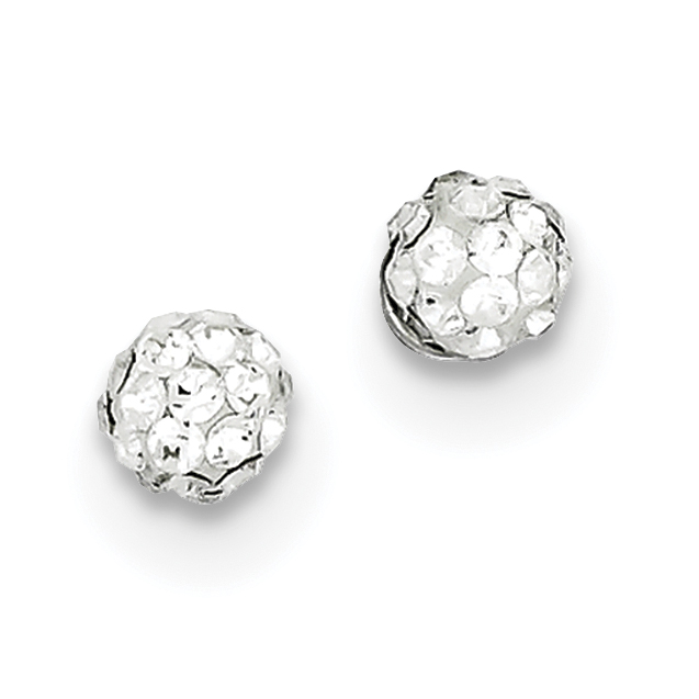 Roy Rose Jewelry Sterling Silver Stellux Crystal Ball Post Earrings