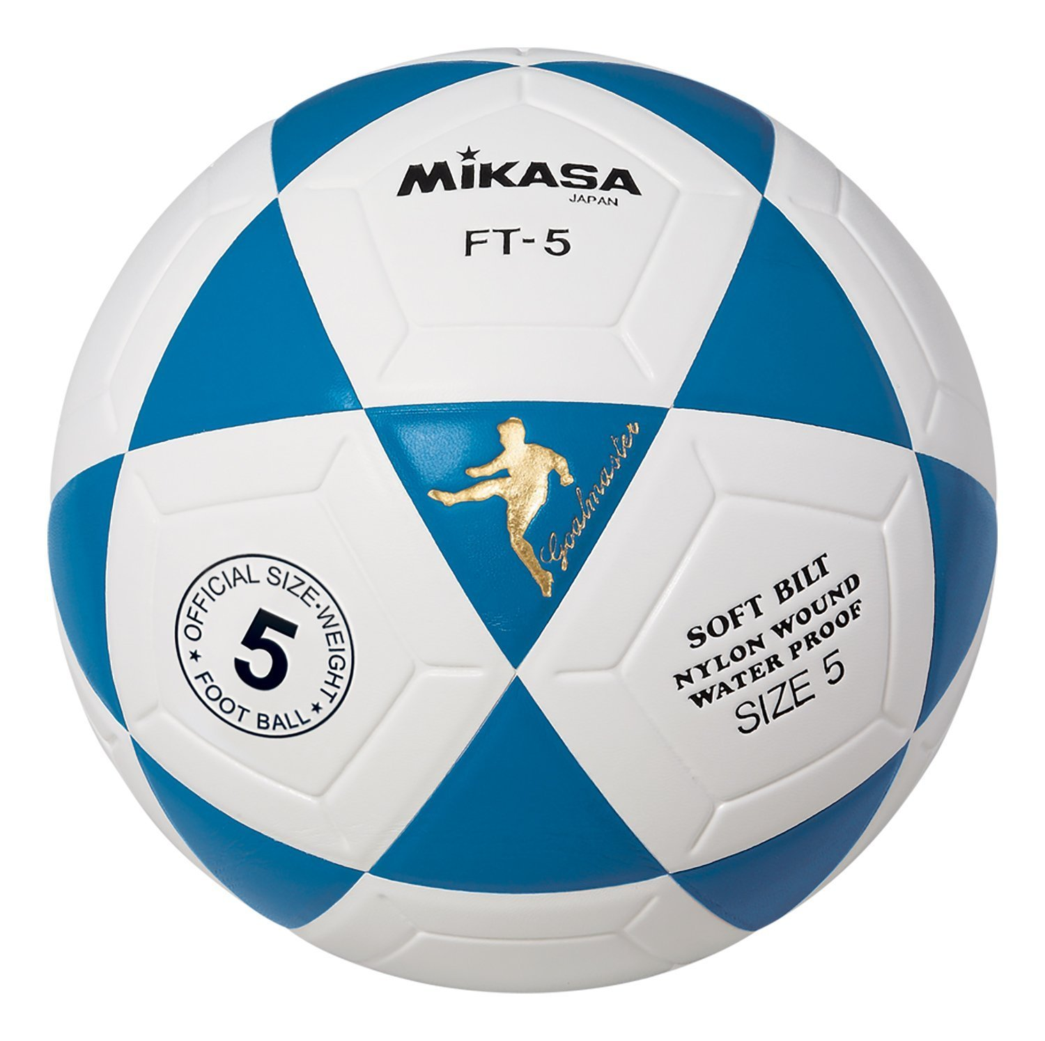 Mikasa FT5 Goal Master Soccer Ball (Blue White, Size 5), New Mikasa FT5 Goal Master Soccer Ball (Blue White,... by