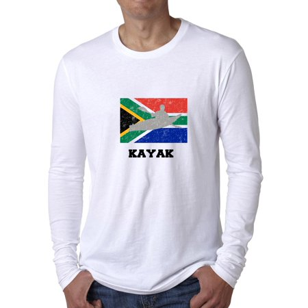 South Africa Olympic - Kayak - Flag - Silhouette Men's Long Sleeve T-Shirt