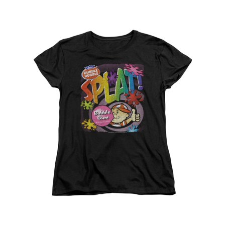 Dubble Bubble Nostalgic Candy Splat Gum Women's T-Shirt Tee (Womens Bubble Gum)