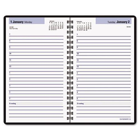dayminder daily appointment book with hourly appointments 8 x 4 7 8