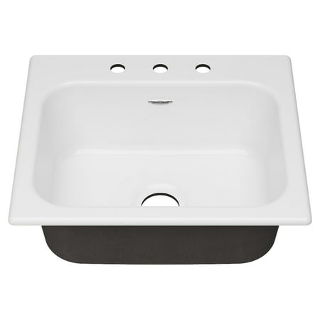American Standard Quince 25 X 22 Top Mount Single Bowl Kitchen Sink with 3  Holes Brilliant White