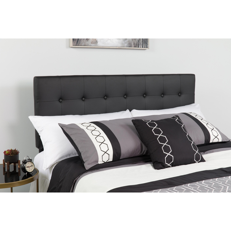 Flash Furniture Lennox Tufted Upholstered Twin Size Headboard in Black Vinyl