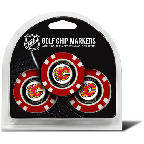 Team Golf NHL Calgary Flames 3 Pack Golf Chip Ball Markers