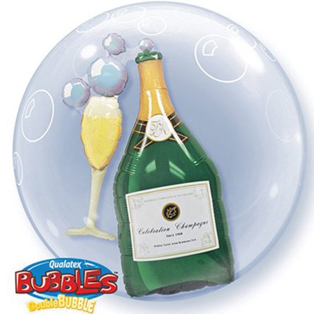 Champagne Double Bubble Balloon 24