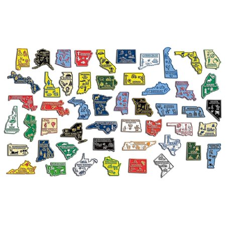 All 50 State Map Outline Magnets Plus Washington DC Complete Set ()