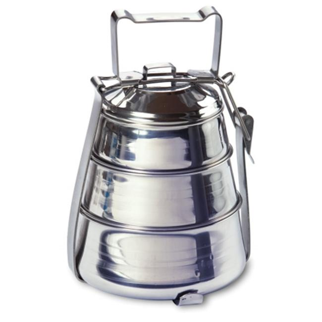 Rome Industries 2664 3-tier Belly Tiffin - stainless steel