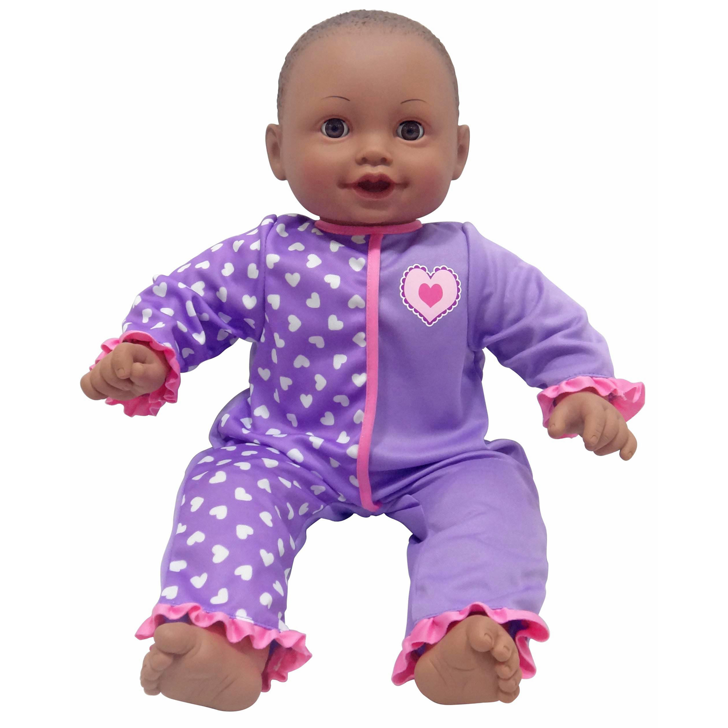 My Sweet Love 20-inch Soft Baby Doll, African American, Purple Outfit