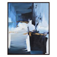 """Ren Wil OL1677 Matte Orion 50"""" X 40"""" Abstract Painting On Canvas"""