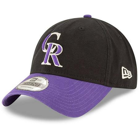 Colorado Rockies Hat (Colorado Rockies New Era Alternate Replica Core Classic 9TWENTY Adjustable Hat - Black/Purple -)