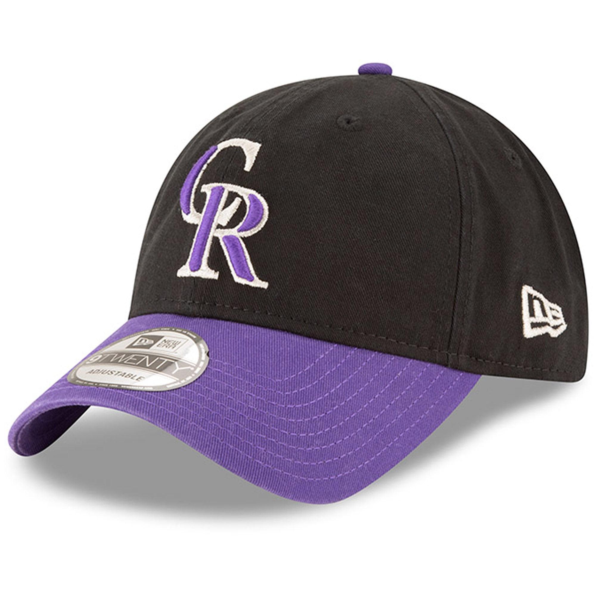 Colorado Rockies New Era Alternate Replica Core Classic 9TWENTY Adjustable Hat - Black/Purple - OSFA