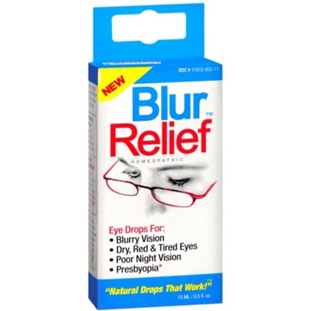 2 Pack - Blur Relief Homeopathic Eye Drops 0.50 oz