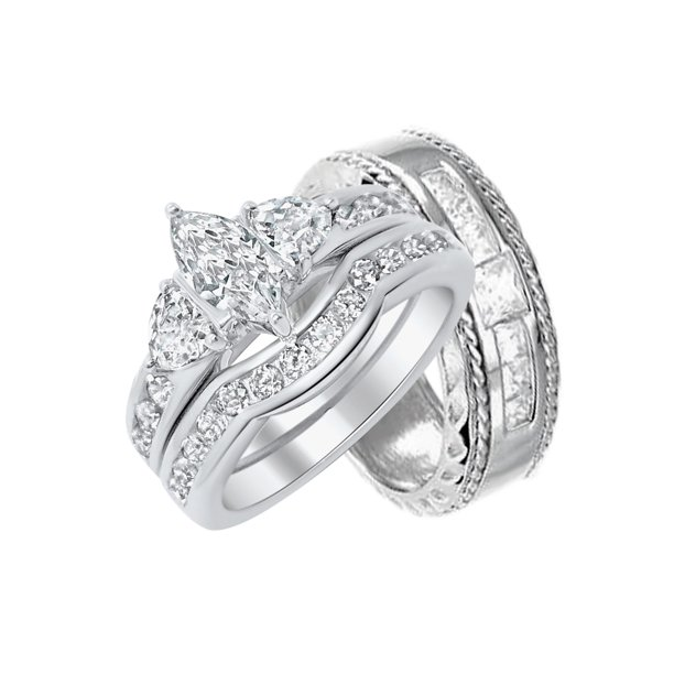 Laraso Co Matching Silver Wedding Bands For Bride And Groom
