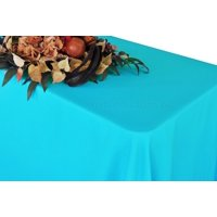 """Wedding Linens Inc. 54""""x96"""" Rectangular Polyester Table Cover Tablecloth for event, wedding, decoration use - Turquoise"""