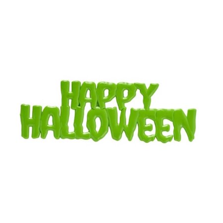 Green Candy Buffet (Lime Green Happy Halloween Drip Script Cake Toppers - 1 Piece - 21372LG - National Cake)