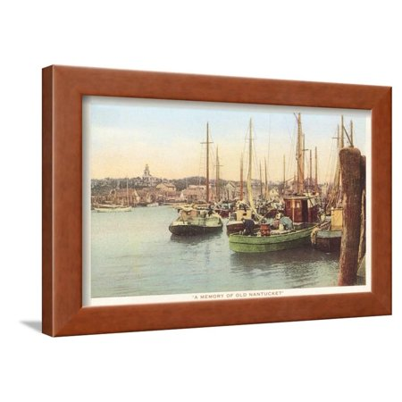 Fishing Boats, Nantucket, Massachusetts Framed Print Wall Art