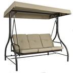 Mainstays Forest Hills 3 Seat Cushion Swing Walmart Com