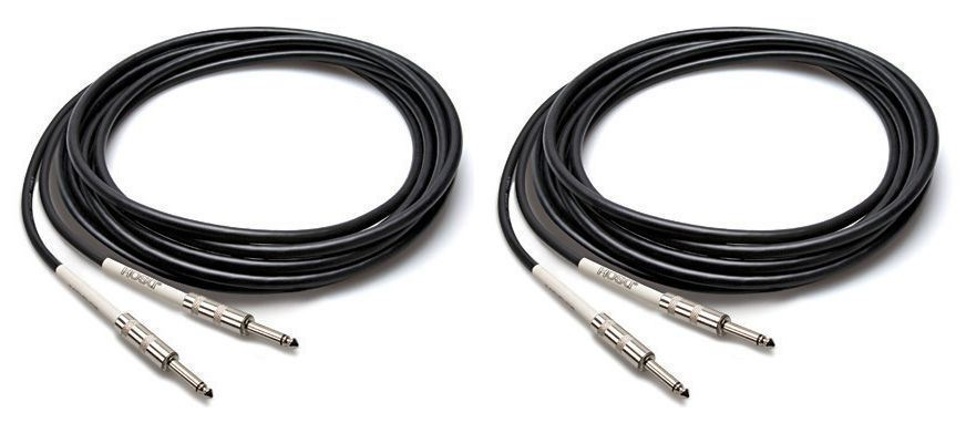 "2 Hosa GTR-225 25 Foot Straight 1 4"" Guitar   Instrument Cables by Hosa"