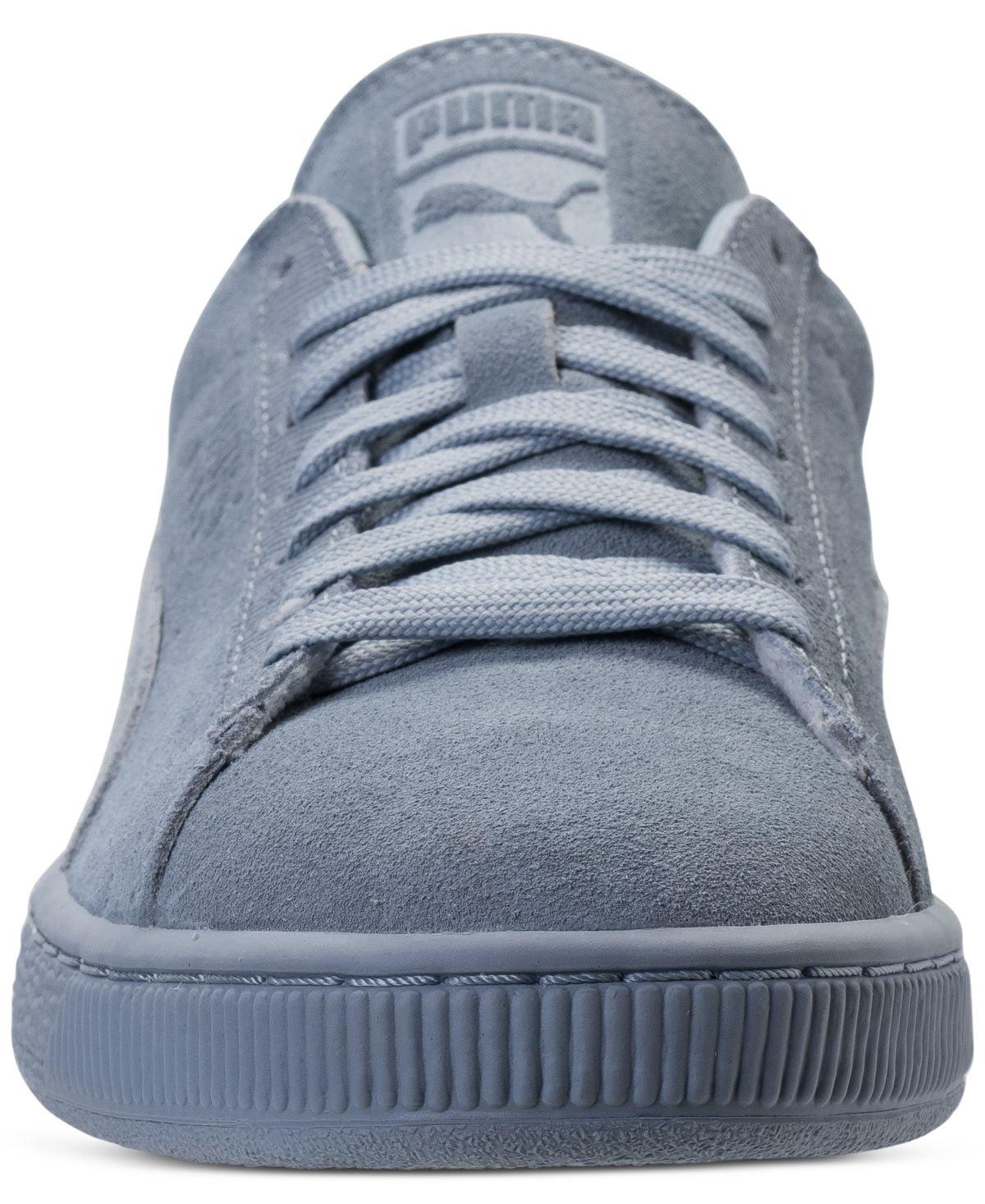 Puma Men's Suede Classic Tonal Blue Fog Ankle-High Fashion Sneaker - 13M
