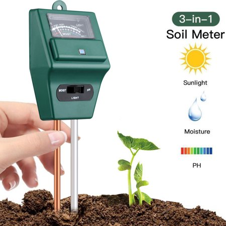 EEEkit  Soil pH Meter, 3-in-1 Soil Test Kit, High Accuracy and Rapid Respond, Moisture, Light & pH Home Garden, Lawn, Farm, Plants, Herbs & Gardening Tools, Indoor/Outdoor Plant Care Soil Tester Gardening Moisture Meter