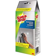 Scotch-Brite Stainless Cleaner Starter Kit, 1 Cook Top Cleaner Handle and 6 Pre-Moistened Pads