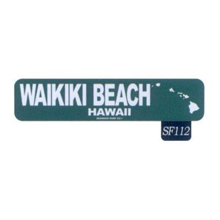 Paradise Surf Sign - Seaweed Surf Co SF112 4X18 Aluminum Sign Waikiki Beach