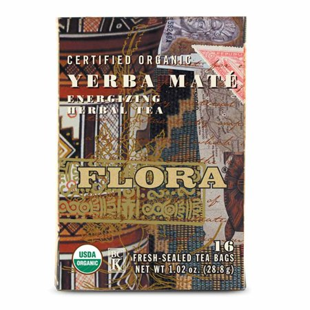 Yerba Mate Tea by Flora Inc (16 Tea  Bags)