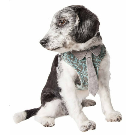 Harness Tie - Pet Life ® 'Fidomite' Mesh Reversible And Breathable Adjustable Dog Harness W/ Designer Neck Tie