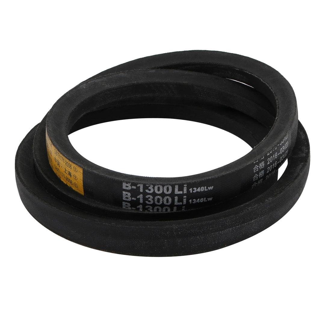 Unique Bargains B1300 17mm Width 11mm Thickness Rubber Transmission Driving Belt V-Belt - image 3 de 3