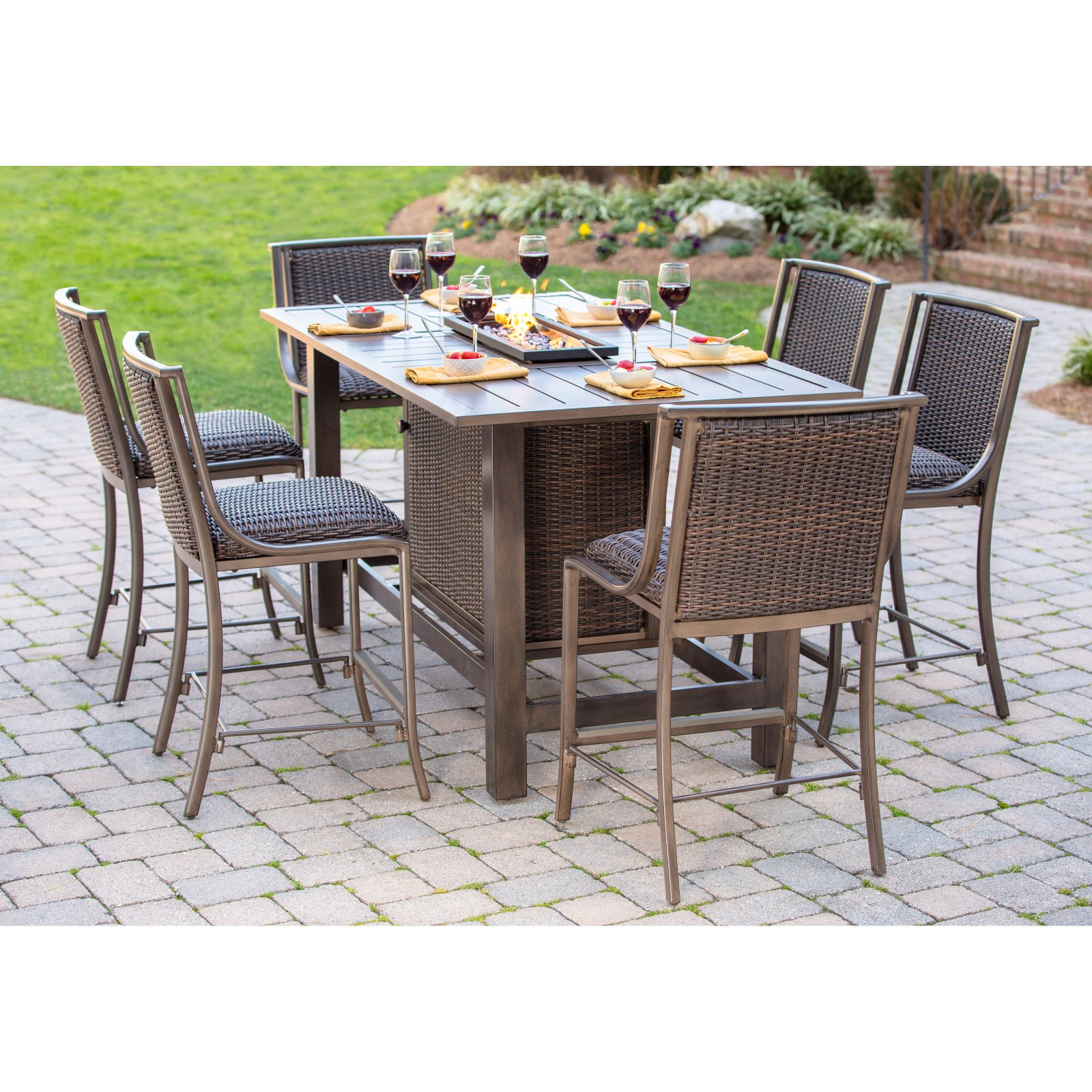 Belham Living Mirfield Bar Height Fire Pit Patio Dining Set By Agio