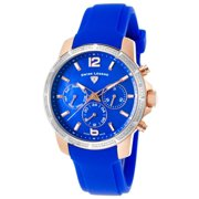 16527Sm-Rg-03-Bls Legasea Diamond Multi-Function Blue Silicone And Dial Watch