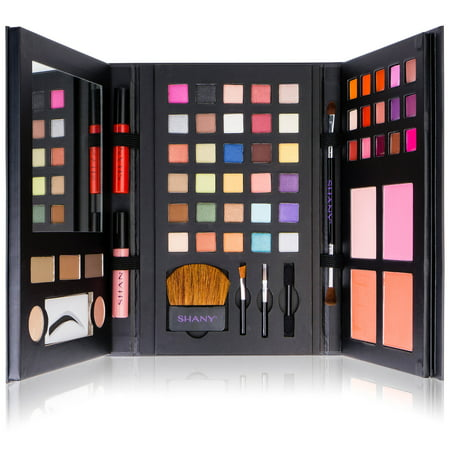 SHANY Luxe Book Makeup Set - All In One Travel Cosmetics Kit with 30 Eyeshadows,  15 Lip Colors, 5 Brushes, 4 Pressed Blushes, 3 Brow Colors, and - Boys Makeup Kit