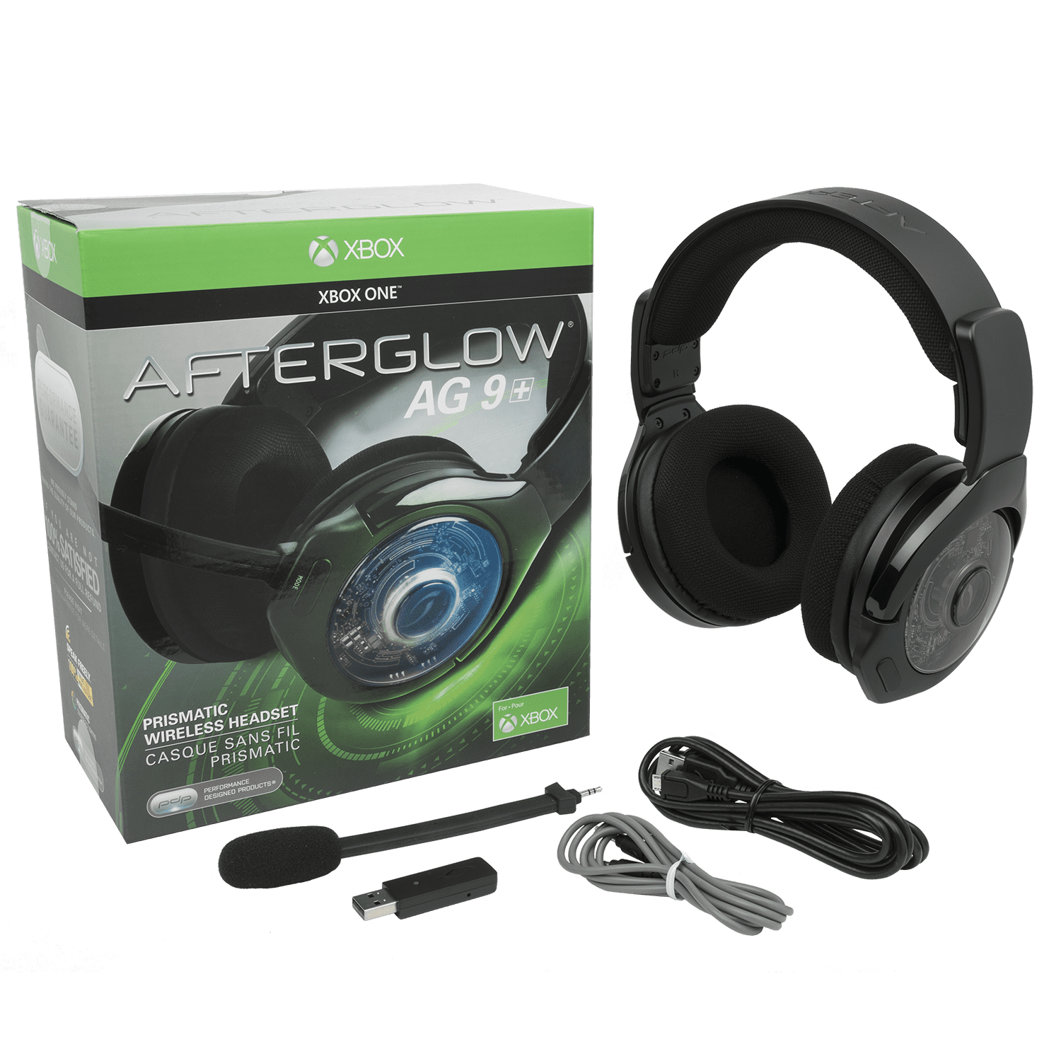 83430de3239 PDP Xbox One Afterglow AG 9+ Prismatic True Wireless Gaming Headset, Black,  048-056-NA - Walmart.com