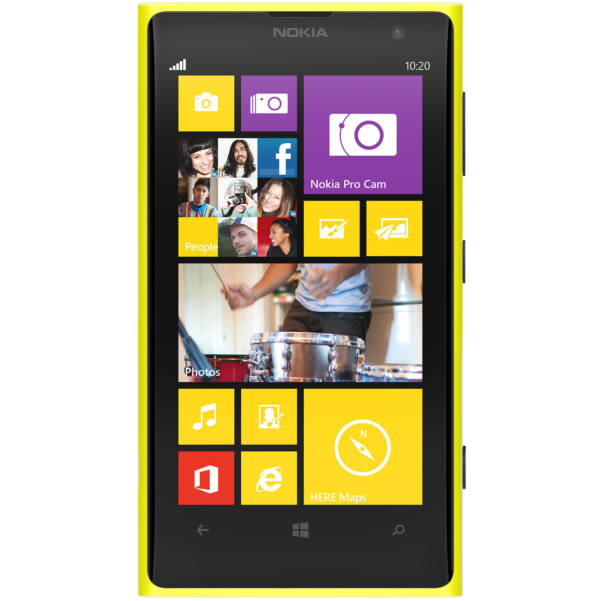 Nokia Lumia 1020 AT&T Windows 8 Smartphone, Yellow