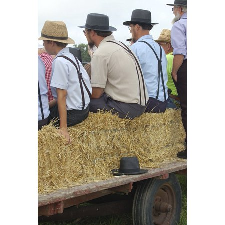 LAMINATED POSTER Persons Amish Men Amish Man Amish Event Amish Hats Poster Print 24 x 36](Amish Man)