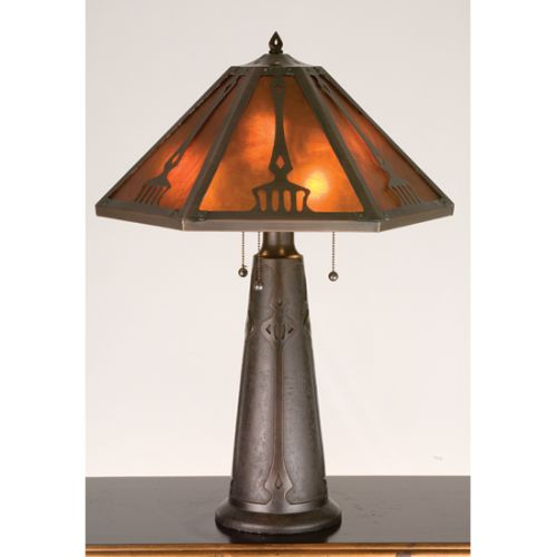 Meyda Tiffany 98516 Craftsman / Mission Table Lamp from the Grenway Collection