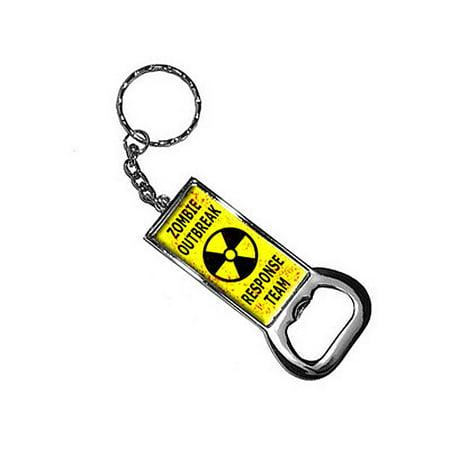 Zombie Outbreak Response Team - Distressed Radiation Bottle Opener Keychain ()