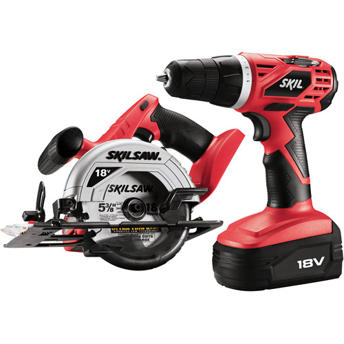 Skil 2860-10 18-Volt Drill and Circular Saw Combo Kit