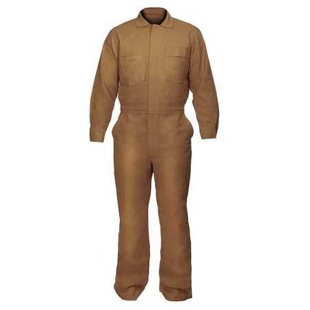 CHICAGO PROTECTIVE APPAREL Flame-Resistant Coverall,Khaki,3XL 605-USK-3XL