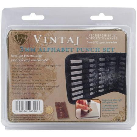 Letter Punch Set - Beadsmith Alphabet Punch Set w/Case, 27/pkg, 3mm (1/8