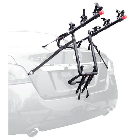 Allen Sports Deluxe 3-Bicycle Trunk Mounted Bike Rack Carrier, (Bell Triple Back 3 Bike Rack Instructions)