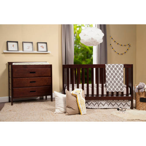 Baby Mod Modena  3-in-1 Fixed Side Crib, Espresso